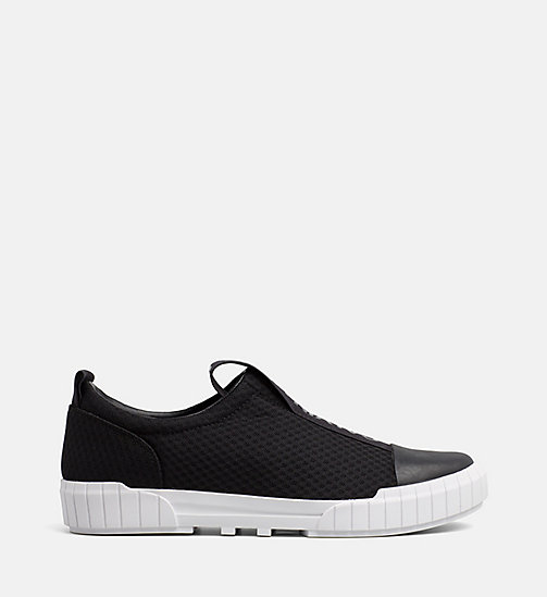 CALVIN KLEIN JEANS Mesh Slip-On Shoes - BLACK - CALVIN KLEIN JEANS FLAT SHOES - main image