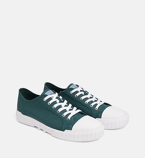 CALVIN KLEIN JEANS Nylon Sneakers - BOTTLE GREEN - CALVIN KLEIN JEANS TRAINERS - detail image 1