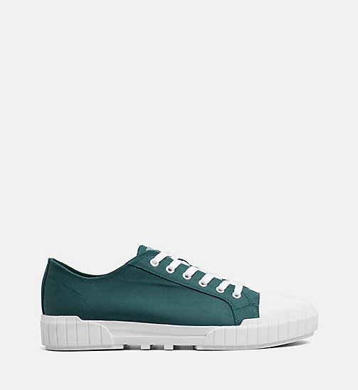 CALVIN KLEIN JEANS Nylon Sneakers - BOTTLE GREEN - CALVIN KLEIN JEANS TRAINERS - main image