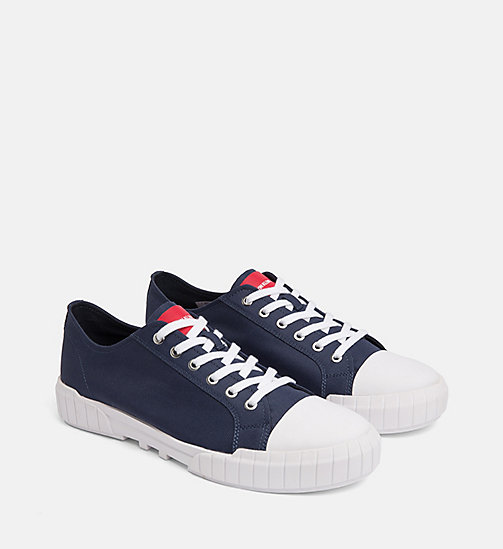 CALVIN KLEIN JEANS Nylon Trainers - NAVY - CALVIN KLEIN JEANS TRAINERS - detail image 1