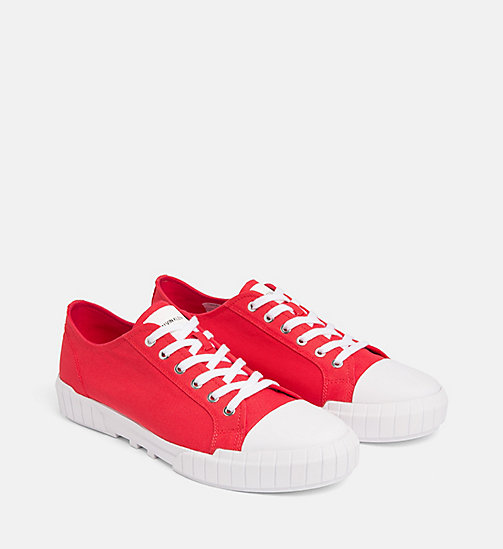 CALVIN KLEIN JEANS Nylon Trainers - TOMATO - CALVIN KLEIN JEANS TRAINERS - detail image 1