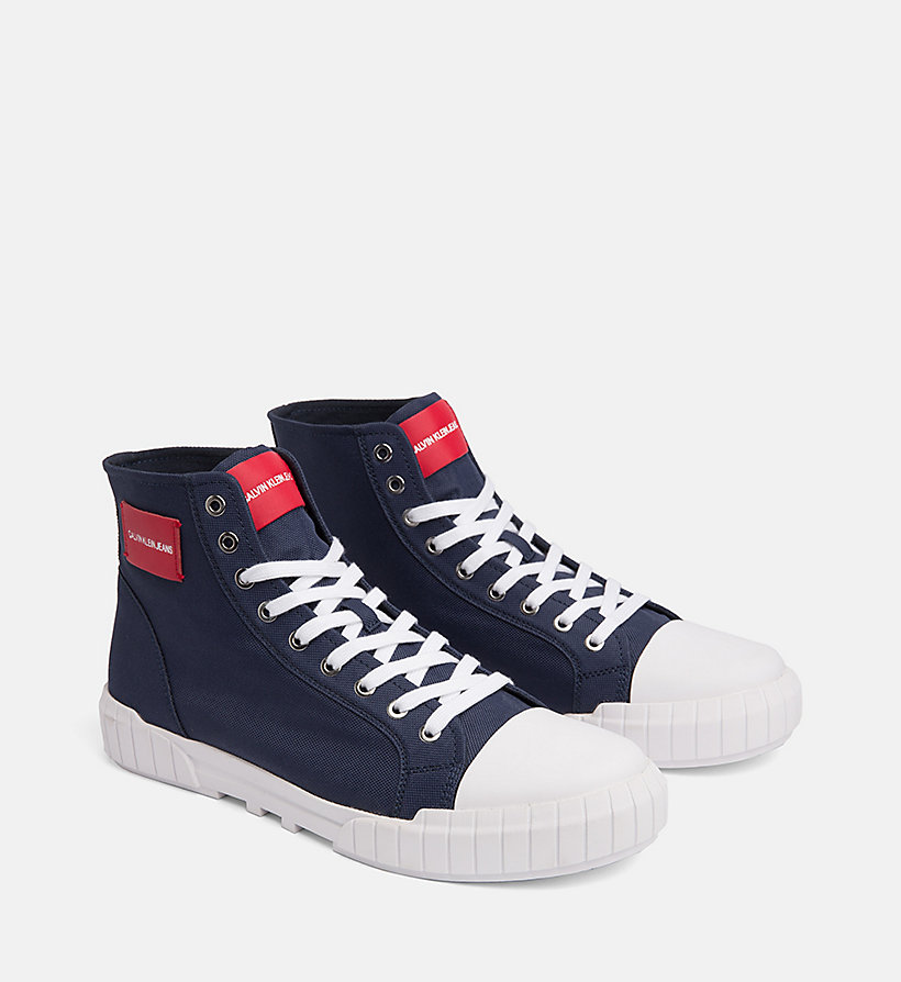 CALVIN KLEIN JEANS Nylon High-Top Trainers - TOMATO - CALVIN KLEIN JEANS MEN - detail image 1