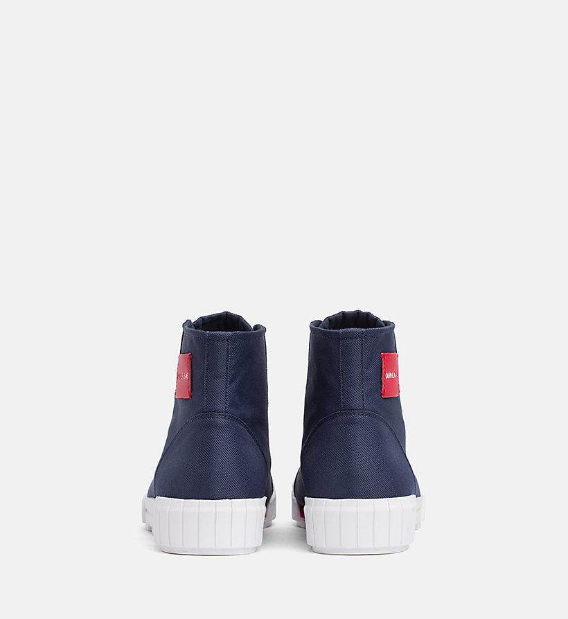 CALVIN KLEIN JEANS Nylon High-Top Trainers - TOMATO - CALVIN KLEIN JEANS MEN - detail image 2