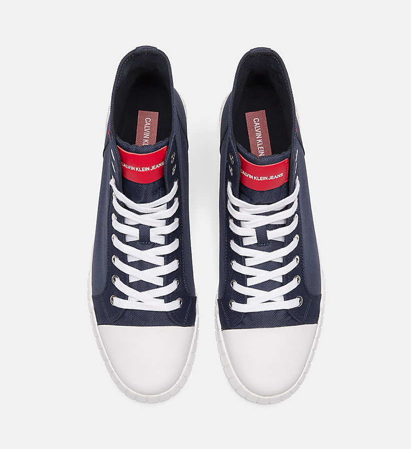 CALVIN KLEIN JEANS Nylon High-Top Trainers - TOMATO - CALVIN KLEIN JEANS MEN - detail image 3