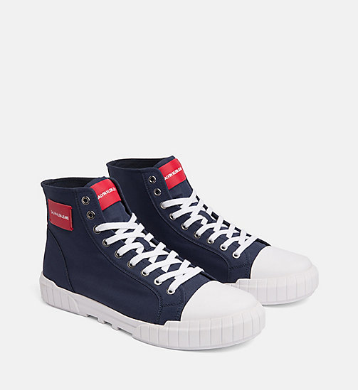 CALVIN KLEIN JEANS Nylon High-Top Trainers - NAVY - CALVIN KLEIN JEANS TRAINERS - detail image 1
