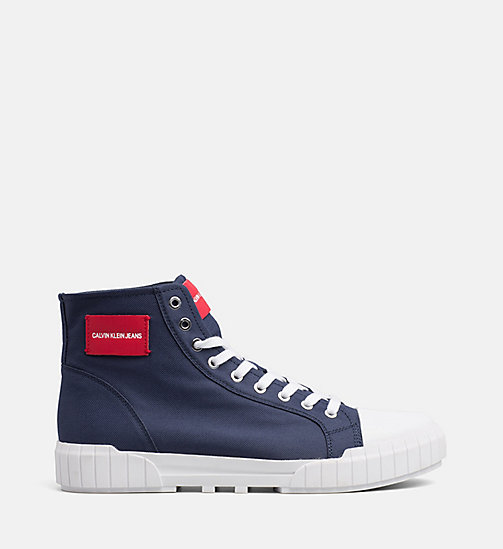 CALVIN KLEIN JEANS Nylon High-Top Trainers - NAVY - CALVIN KLEIN JEANS TRAINERS - main image