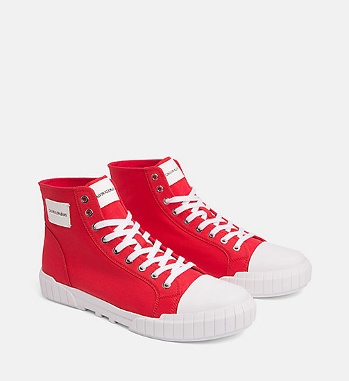 CALVIN KLEIN JEANS Nylon High-Top Trainers - TOMATO - CALVIN KLEIN JEANS TRAINERS - detail image 1