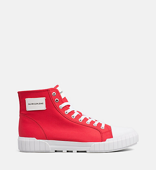 CALVIN KLEIN JEANS Nylon High-Top Trainers - TOMATO - CALVIN KLEIN JEANS TRAINERS - main image