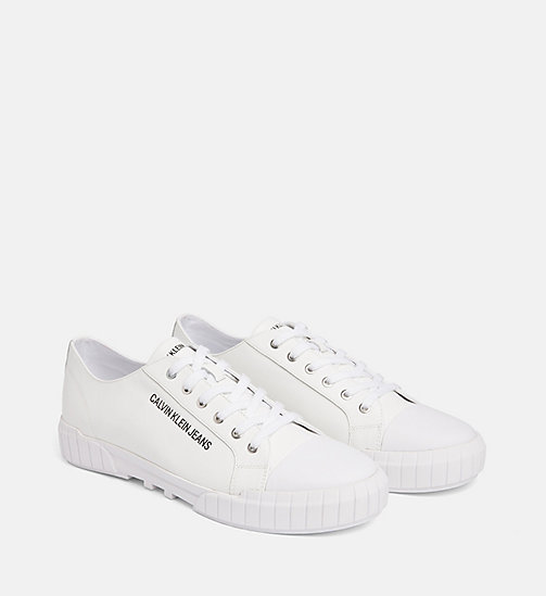 CALVIN KLEIN JEANS Leather Trainers - WHITE - CALVIN KLEIN JEANS TRAINERS - detail image 1