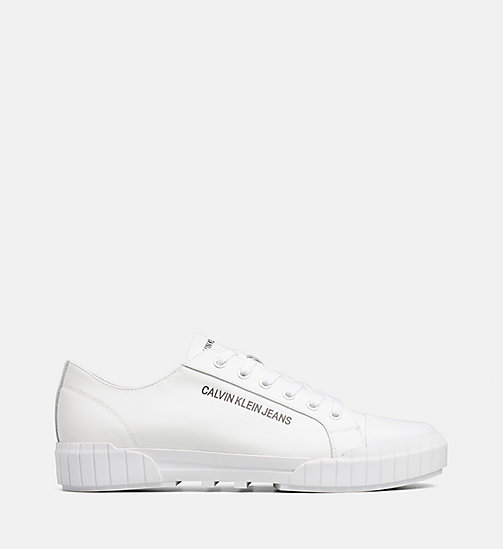 CALVIN KLEIN JEANS Leather Trainers - WHITE - CALVIN KLEIN JEANS TRAINERS - main image