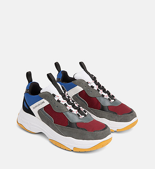 CALVIN KLEIN JEANS Chunky Sneakers aus Leder - ROSSO/BLUE/GREY/WHITE - CALVIN KLEIN JEANS HERBST-TRAUM - main image 1