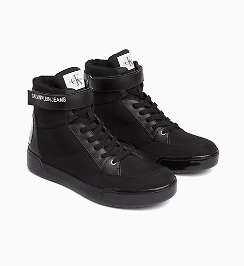 CALVIN KLEIN JEANS High Top Sneakers - BLACK - CALVIN KLEIN JEANS BOLD GRAPHICS - main image 1