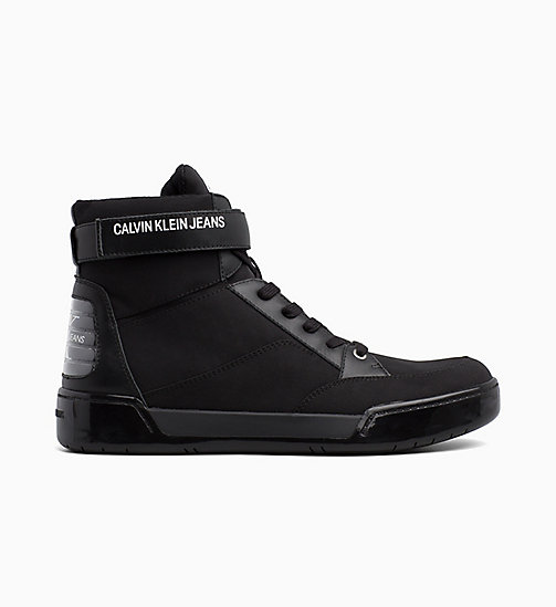 CALVIN KLEIN JEANS High Top Sneakers - BLACK - CALVIN KLEIN JEANS BOLD GRAPHICS - main image