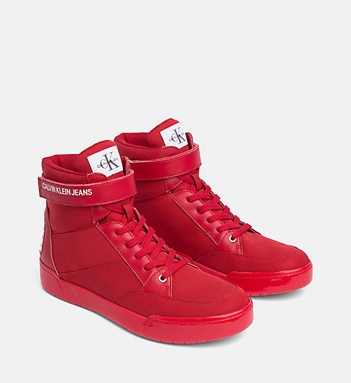 CALVIN KLEIN JEANS High-Top Trainers - SCARLET - CALVIN KLEIN JEANS BOLD GRAPHICS - detail image 1