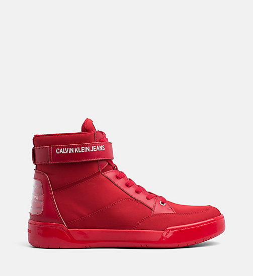 CALVIN KLEIN JEANS High-Top Trainers - SCARLET - CALVIN KLEIN JEANS BOLD GRAPHICS - main image