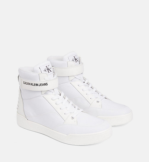 CALVIN KLEIN JEANS High-Top Sneakers - WHITE - CALVIN KLEIN JEANS TRAINERS - detail image 1