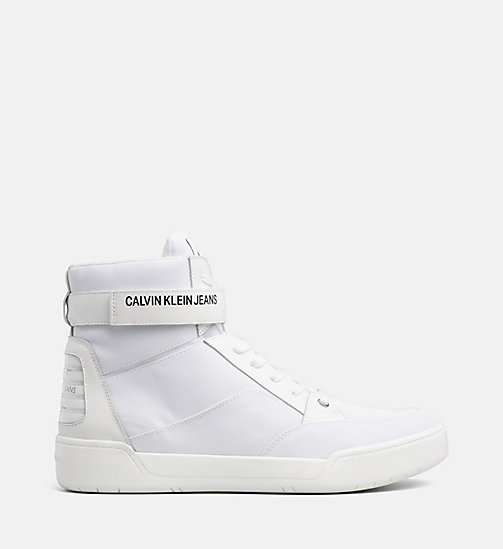CALVIN KLEIN JEANS High-Top Sneakers - WHITE - CALVIN KLEIN JEANS TRAINERS - main image