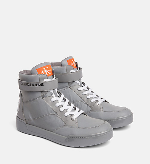CALVIN KLEIN JEANS High Top Sneakers - SILVER - CALVIN KLEIN JEANS IN THE THICK OF IT FOR HIM - main image 1