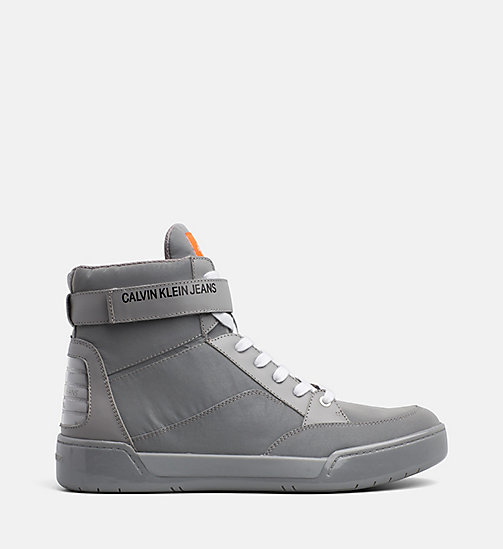 CALVIN KLEIN JEANS High-top sneakers - SILVER - CALVIN KLEIN JEANS IN THE THICK OF IT FOR HIM - main image