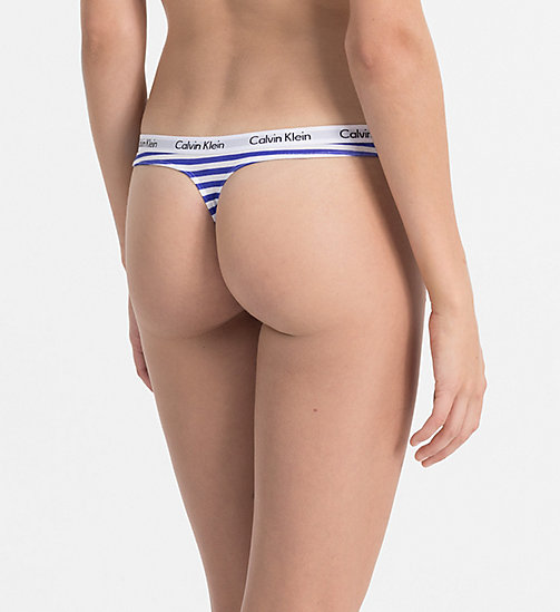 CALVINKLEIN Thong - Carousel - SIMPLE STRIPE_WHITE/STREAK - CALVIN KLEIN THONGS - detail image 1