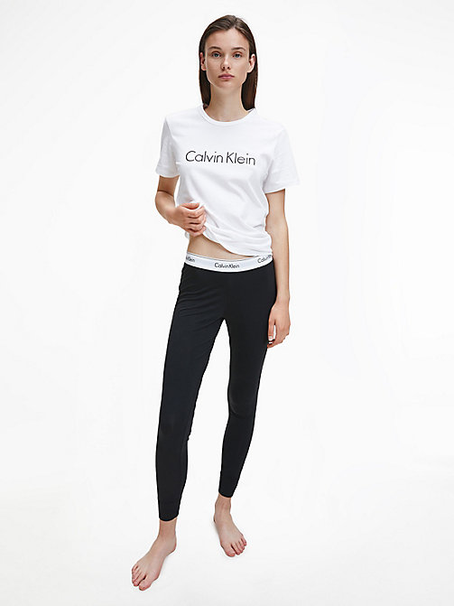 CALVIN KLEIN Leggings - Modern Cotton - BLACK - CALVIN KLEIN LOUNGE PANTS - detail image 1