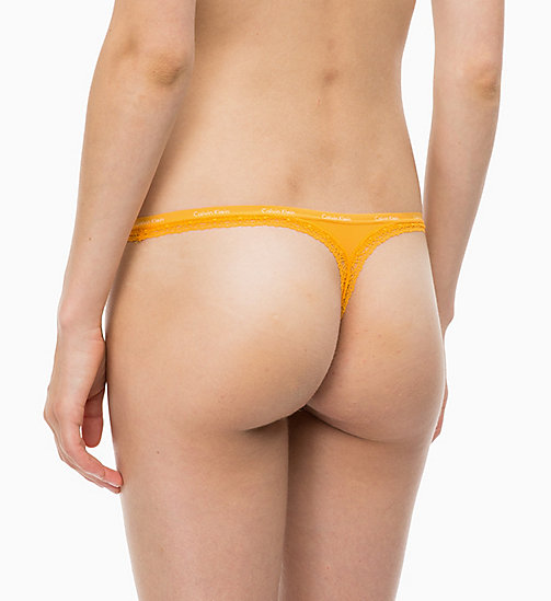 CALVIN KLEIN String - Bottoms Up - FRESH ZEST -  SOUS-VÊTEMENTS - image détaillée 1
