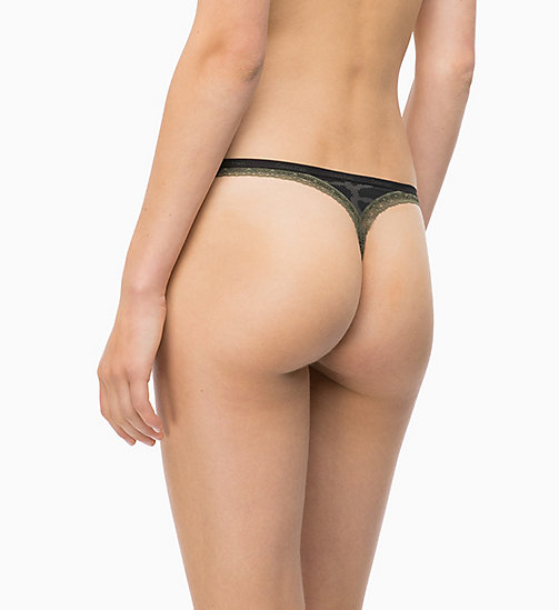 CALVINKLEIN Thong - Bottoms Up - CAMO_BLACK - CALVIN KLEIN NEW FOR WOMEN - detail image 1