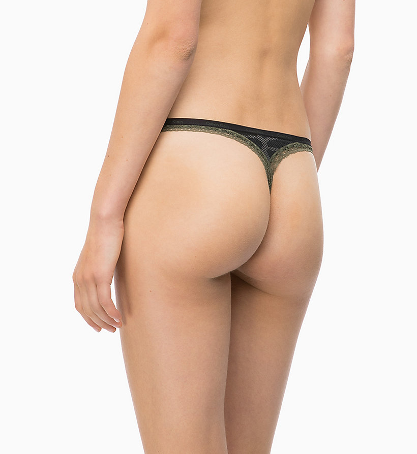 CALVIN KLEIN Tanga - Bottoms Up - EFFORTLESS ANIMAL_MAGGIE - CALVIN KLEIN ROPA INTERIOR - imagen detallada 1