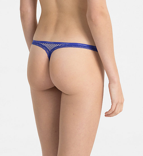 CALVINKLEIN Thong - Bottoms Up - DIAMOND GRID_STREAK - CALVIN KLEIN THONGS - detail image 1