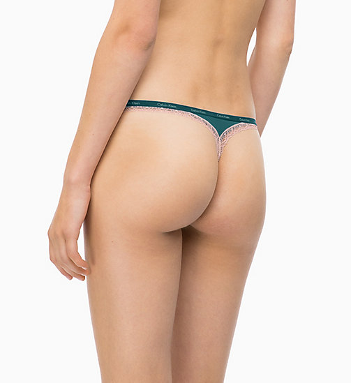 CALVIN KLEIN Thong - Bottoms Up - DARK CYAN - CALVIN KLEIN THONGS - detail image 1