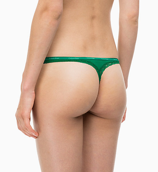 CALVINKLEIN String - Bottoms Up - SIMMER GREEN - CALVIN KLEIN SOUS-VÊTEMENTS - image détaillée 1
