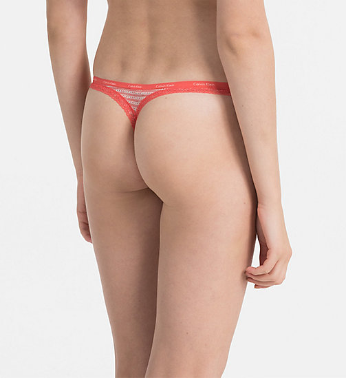CALVINKLEIN Thong - Bottoms Up - MIRAGE STRIPE - CALVIN KLEIN THONGS - detail image 1