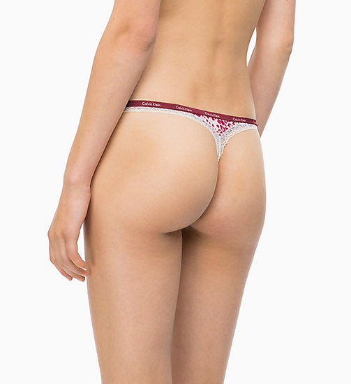 CALVINKLEIN Thong - Bottoms Up - EFFORTLESS ANIMAL_MAGGIE - CALVIN KLEIN THONGS - detail image 1