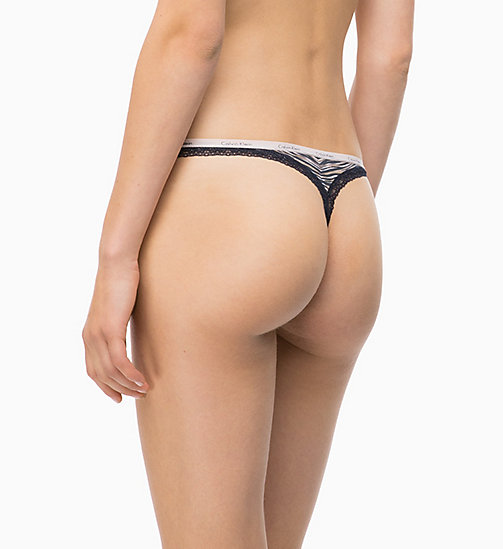 CALVINKLEIN Thong - Bottoms Up - MOLTEN LAVA - CALVIN KLEIN THONGS - detail image 1