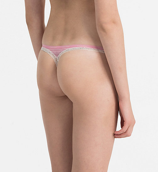 CALVINKLEIN Thong - Bottoms Up - OUTLINE STRIPE LOGO_PENELOPE - CALVIN KLEIN THONGS - detail image 1