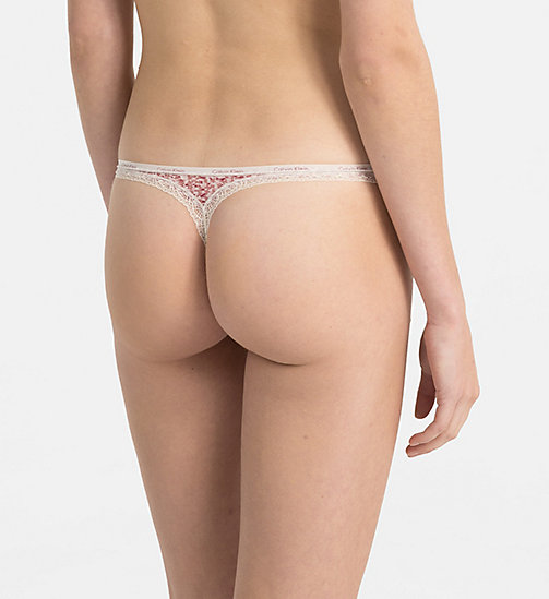 CALVINKLEIN Thong - Bottoms Up - KINETIC PINK PRINT_ROSALIE - CALVIN KLEIN THONGS - detail image 1