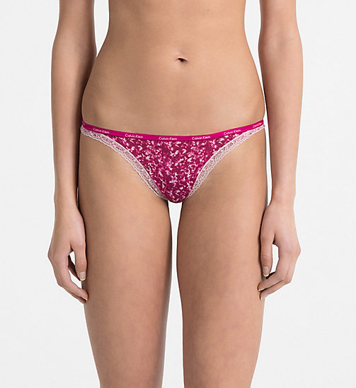 CALVINKLEIN Thong - Bottoms Up - MINIMIZING PRINT_INDULGE - CALVIN KLEIN UNDERWEAR - main image