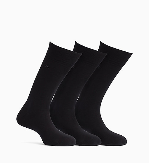 CALVINKLEIN 3 Pack Crew Socks - BLACK - CALVIN KLEIN ALL GIFTS - main image