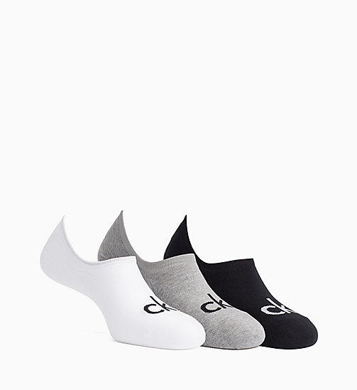 CALVINKLEIN 3 Pack Logo Liner Socks - ASST.96 - CALVIN KLEIN SPORTS SOCKS & ACCESSORIES - main image
