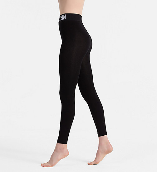CALVIN KLEIN Logo Leggings - BLACK - CALVIN KLEIN SOCKS & TIGHTS - detail image 1
