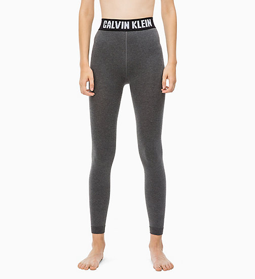 CALVINKLEIN Logo Leggings - CHARCOAL HEATHER -  SPORTS SOCKS & ACCESSORIES - detail image 1