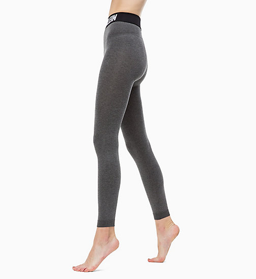 CALVINKLEIN Logo Leggings - CHARCOAL HEATHER - CALVIN KLEIN SPORTS SOCKS & ACCESSORIES - main image
