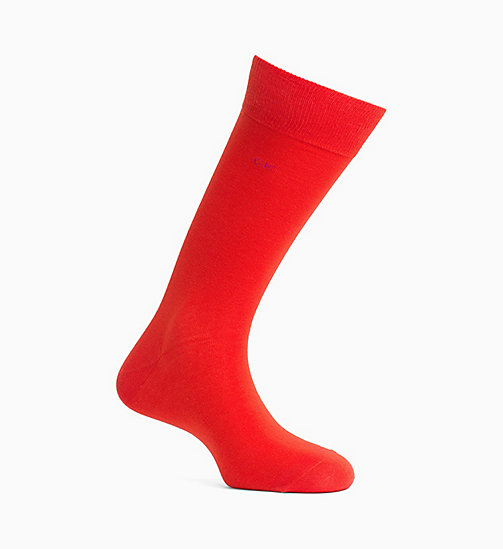 CALVINKLEIN Flat Knit Crew Socks - ORANGE COM - CALVIN KLEIN ALL GIFTS - main image