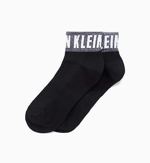 CALVINKLEIN Logo Quarter Socks - BLACK - CALVIN KLEIN SOCKS & TIGHTS - main image