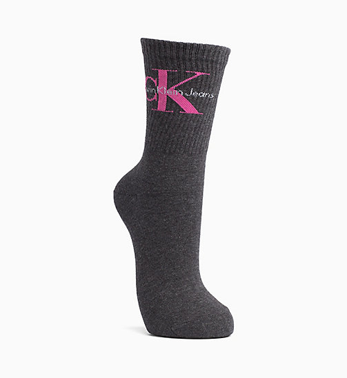 CALVIN KLEIN JEANS Logo Crew Socks - GRAPHITE HEATHER - CALVIN KLEIN JEANS SOCKS & TIGHTS - main image