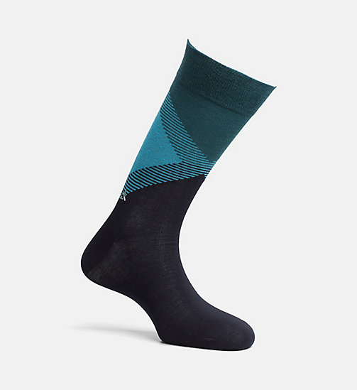 CALVINKLEIN Colorblock Crew Socks - NAVY - CALVIN KLEIN SHOES & ACCESSORIES - main image