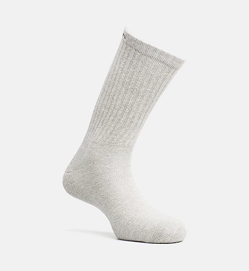 CALVINKLEIN Cushion Crew Socks - OXFORD HEATHER - CALVIN KLEIN SHOES & ACCESSORIES - main image