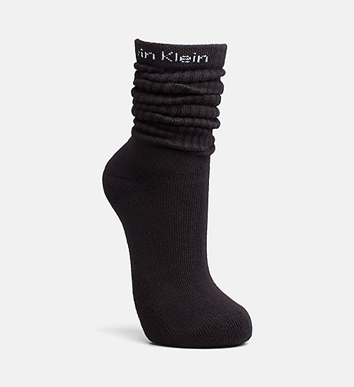 CALVIN KLEIN Slouch Socks - BLACK - CALVIN KLEIN SOCKS & TIGHTS - detail image 1