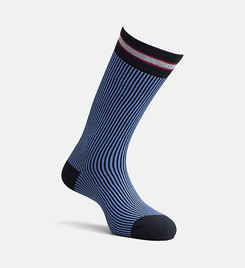 CALVIN KLEIN JEANS Fine Stripe Crew Socks - NAVY - CALVIN KLEIN JEANS SHOES & ACCESSORIES - main image