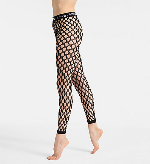 CALVINKLEIN Fishnet Leggings - BLACK - CALVIN KLEIN NEW IN - main image
